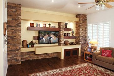 clasical furniture style living room accent wall ideas | Remodeling - traditional - living room - phoenix - Stone ...