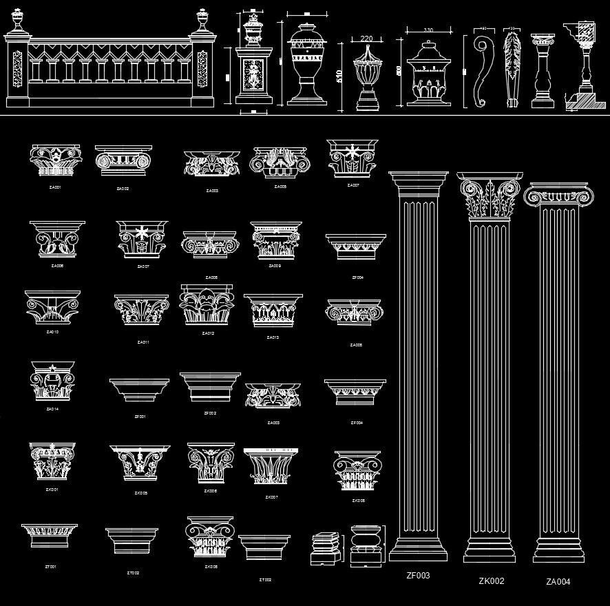 Architectural Decorative Blocks – CAD Design