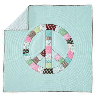 Peace Sign Quilt Quilts Mini Quilts Square Quilt