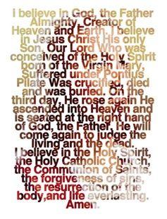 the apostles creed - Google Search | cool | Pinterest | Apostles ...