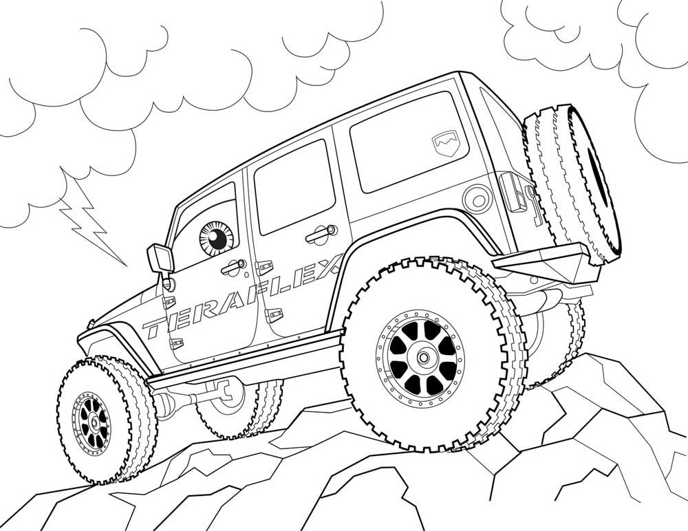 Free Jeep Coloring Pages To Print Procoloring