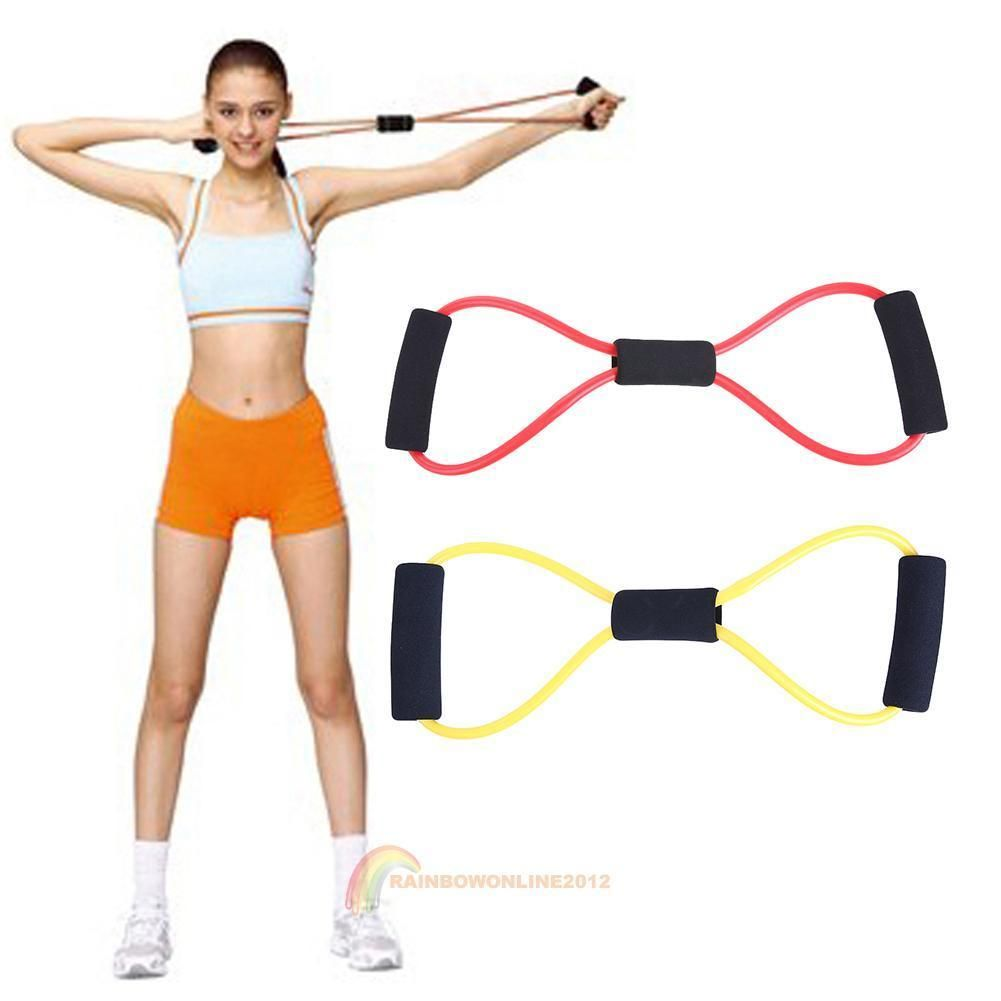 Fitness Exerciser Chest Muscle Expander Yoga Pull Rope Tool Gym Sports Pulling