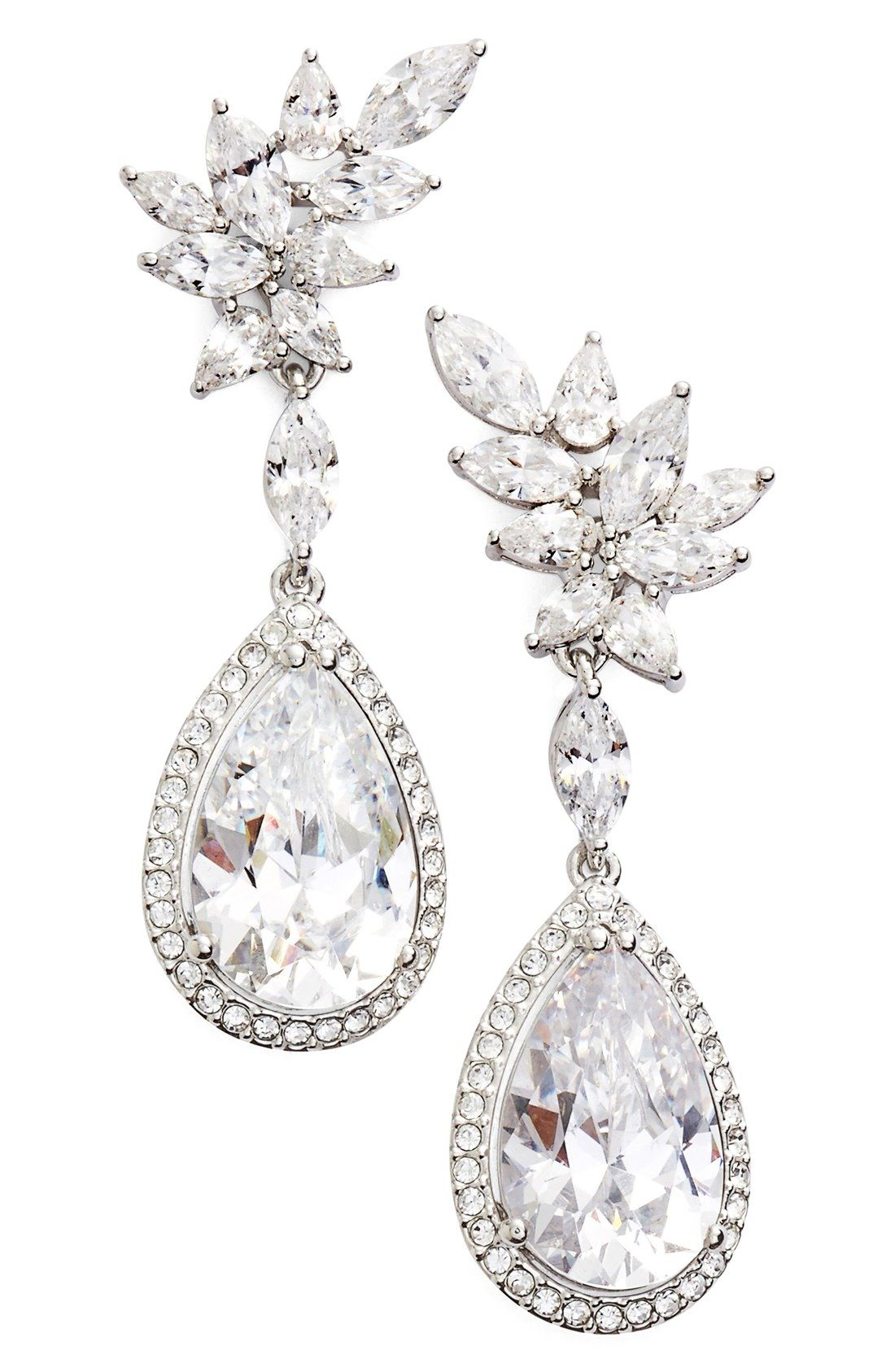 Nadri Bloom Cubic Zirconia Drop Earrings available at Nordstrom