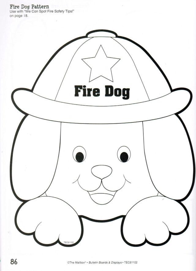 Fire Dog Pattern Fire Safety Preschool Crafts Fire Safety