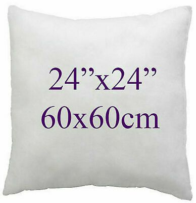 """4 x 24/"""" x 24/"""" DUCK FEATHER CUSHION PADS INNERS INSERTS FILLERS SCATTERS 60x60cm"""