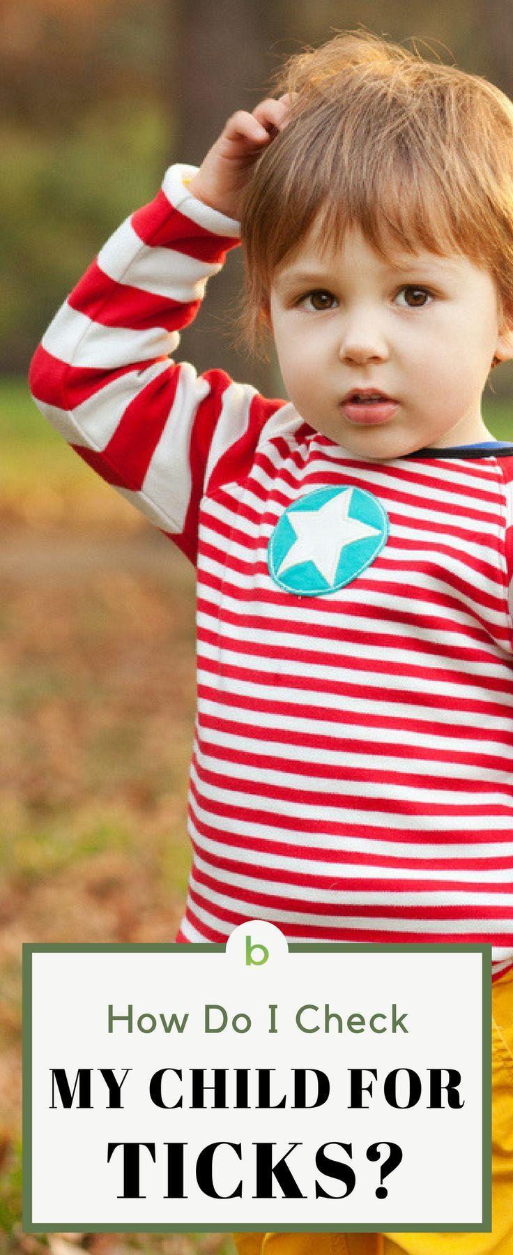 How do i check my child for ticks my children children