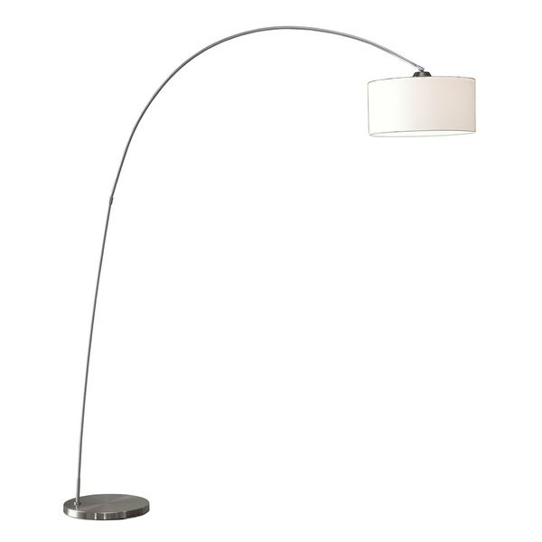 Artiva usa adelina arched brushed steel floor lamp feathering our artiva usa adelina european sleek design modern art satin nickel finish floor arc lamp w heavy duty base adjustable shade mozeypictures