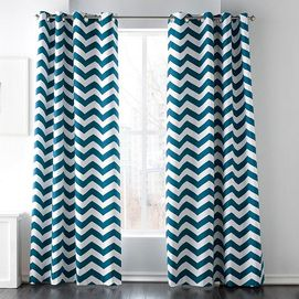 Sears Style Factory Mc Tangier Foam Back Grommet Panel These Come In A Variety Of Colors I M Thinking The Purple For Our Guest Chevron Curtains Curtain Designs Style
