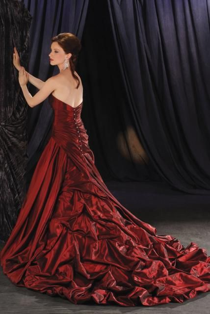 Would You Wear Red Wedding Dresses | Lace, Black wedding dresses ...