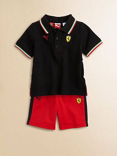 Puma Ferrari Set Saks Boy's Little And Toddler'samp; Polo Shorts txQhdsrC