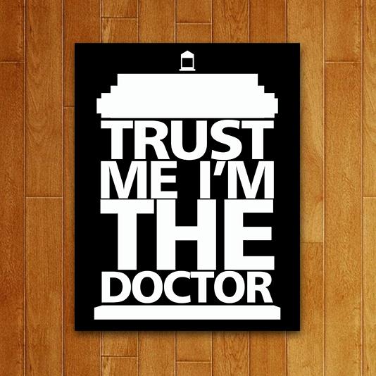 Placa Decorativa Trust Me I'm the Doctor