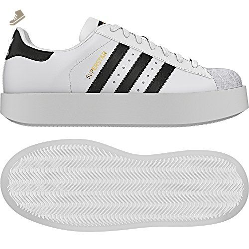 adidas originali delle superstar audace w, bianco / nero / oro metallico