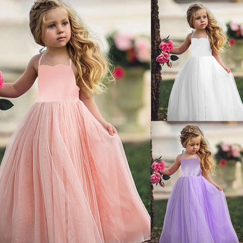 Toddler Kids Baby Girl Princess Tutu Dresses Sundress Wedding Party Pageant Gown