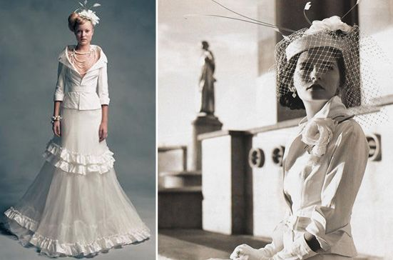 vintage-winter-jacket-wedding-dress.jpg (551×364) | Lust List ...