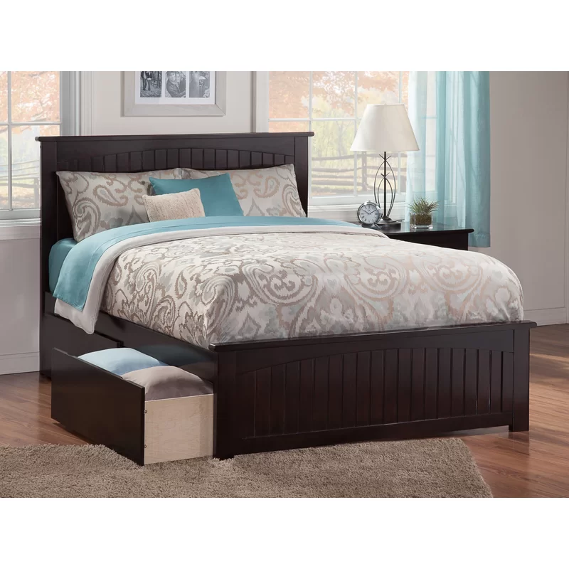 Atlantic Furniture Madison Full Platform Bed With Matching Foot Board With Twin Size Urban Trundle Bed In Grey Atlantic Furniture Full Platform Bed Furniture