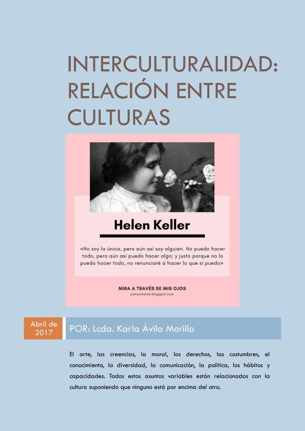 Interculturalidad: Relación entre culturas