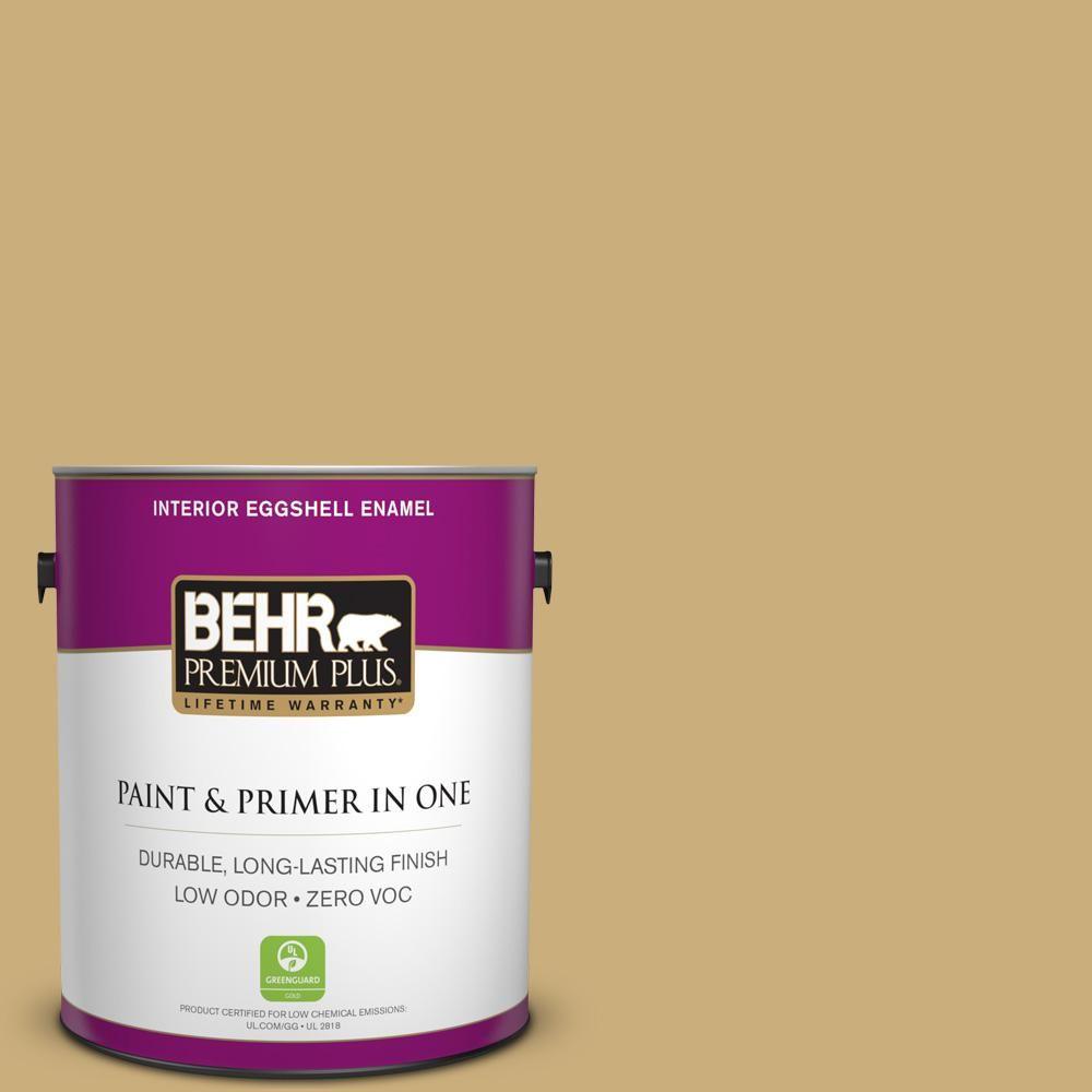 BEHR Premium Plus 1 gal. #PPU6-16 Cup of Tea Zero VOC Eggshell Enamel Interior Paint