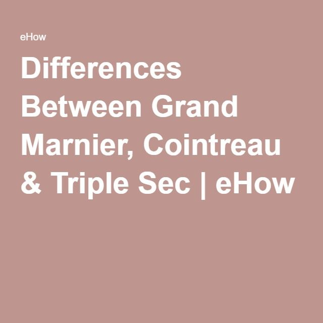 Differences Between Grand Marnier, Cointreau & Triple Sec