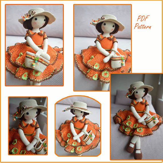 AJOUT MOTIF .. Crochet poupée tenue & Accessoire Motif pour 17 Ins Chepidolls hautes