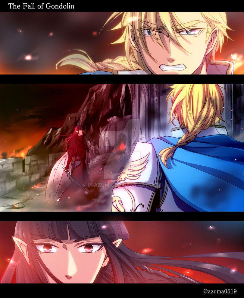 The Fall Of Gondolin By Https Www Deviantart Com M Azuma On Deviantart Con Immagini