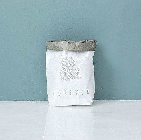 Sacchetto di carta Kraft lavabile / lavabile di Twomysterybox