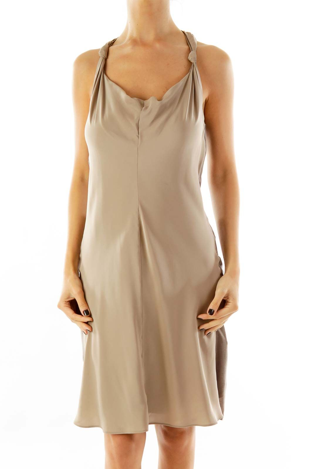 244a09dd805 Seductive dresses for a weekend night out taupe racerback cocktail dress by  Banana Republic  silkroll