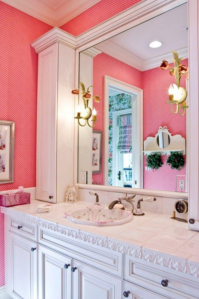 peachy pink + white