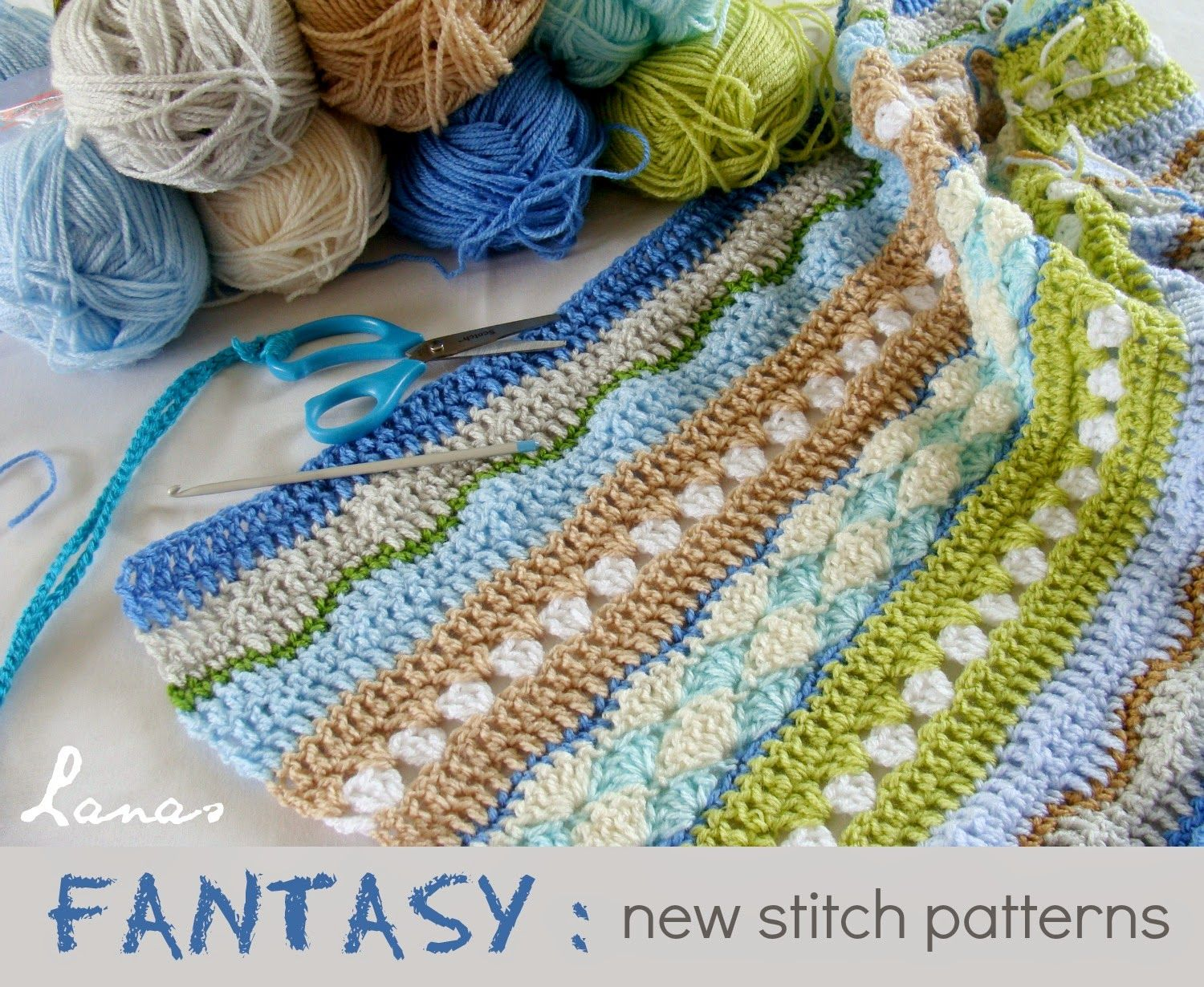 Lanas de Ana: FANTASY: New Stitches | Mantas ganchillo | Pinterest