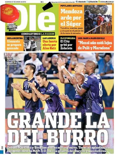 Domingo 27 De Enero Del 2013 Boca Juniors Quitar El Sueño Tapas