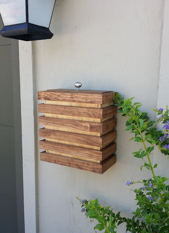 Case Modern Mailbox Wall Mounted Wood Contemporary