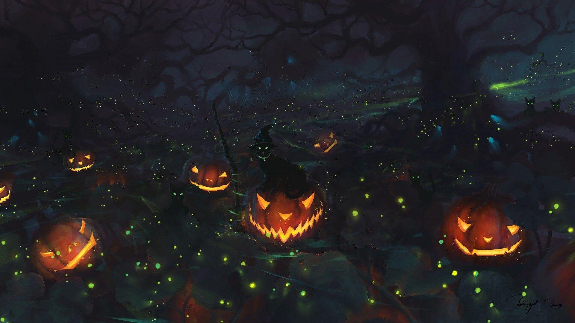 Happy Halloween By Bis Biswas Happy Halloween Halloween Art Halloween Town