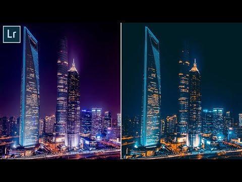 How To Edit Night City Photos In Lightroom Cc Preset Youtube Night City Lightroom City Photo