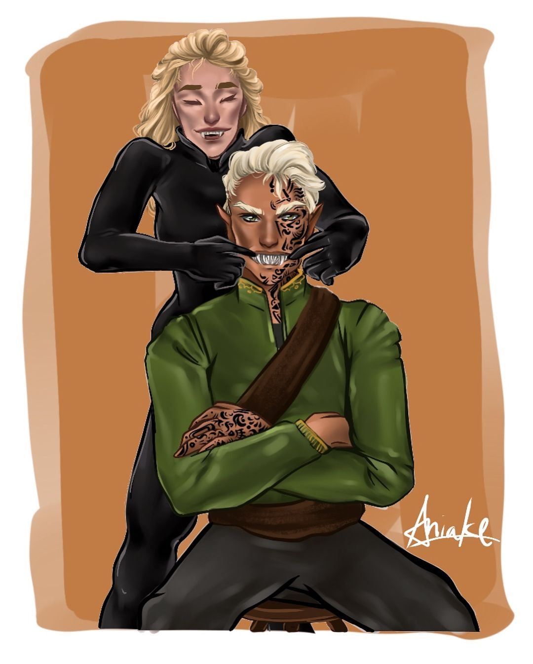 Image result for rowan and aelin fanart