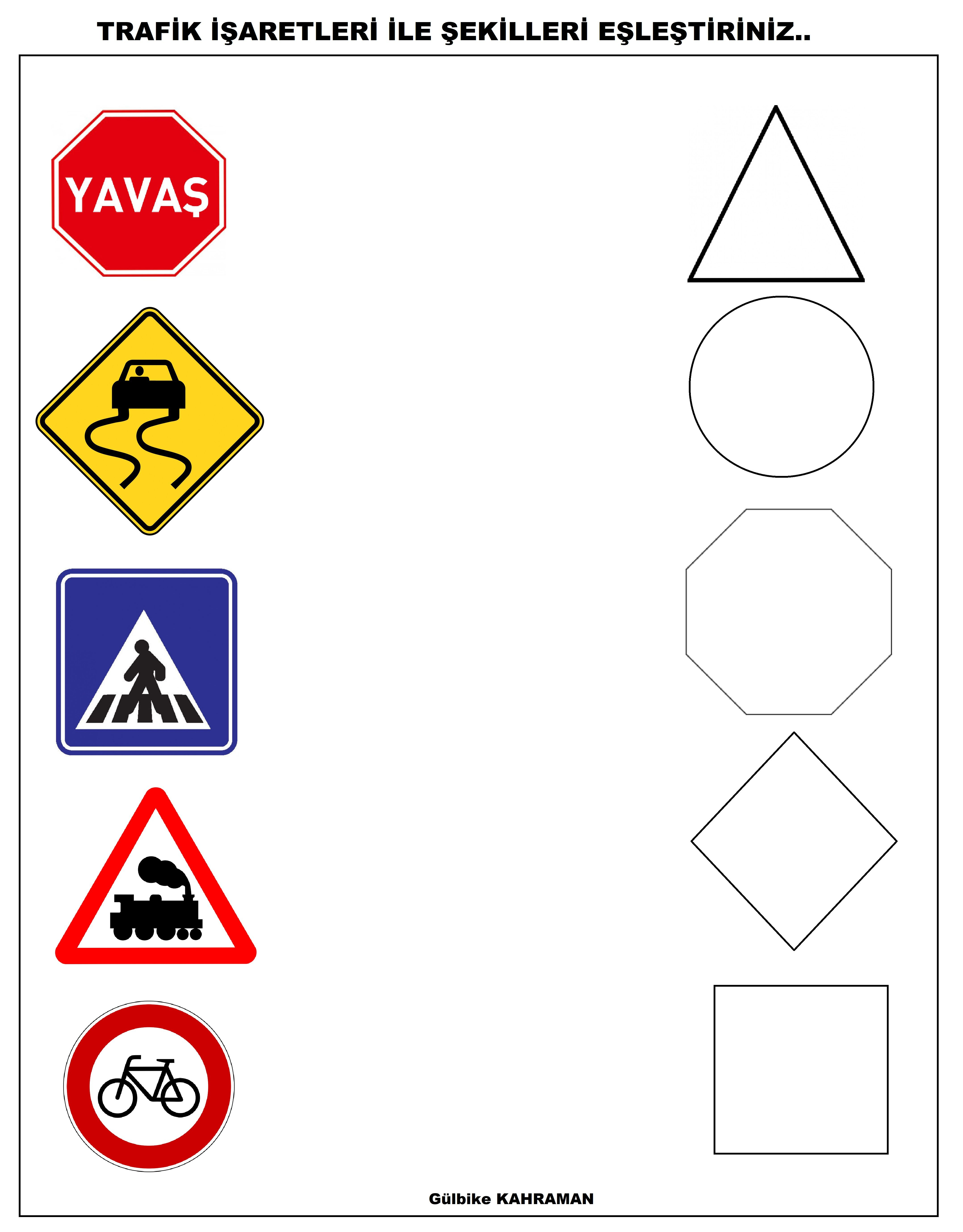 Trafik I Aret Levhalar Boyama Trafik I Aret Ve Levhalar