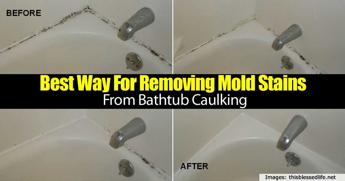 Best Way For Removing Mold Stains From Bathtub Caulking Remove