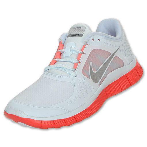 huge discount 811bb 7066a Nike Free Run+ 3 Shield Women s Running Shoes   FinishLine.com   Blue  Tint Silver Bright Crimson