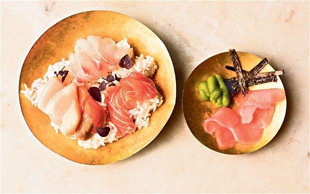 TRADITIONAL JAPANESE RECIPES    ... : raw fish donburi, a traditional Japanese dish Photo: Andrew Crowley