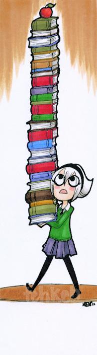 LOKs Tower of Books - Bookmark by tea-bug