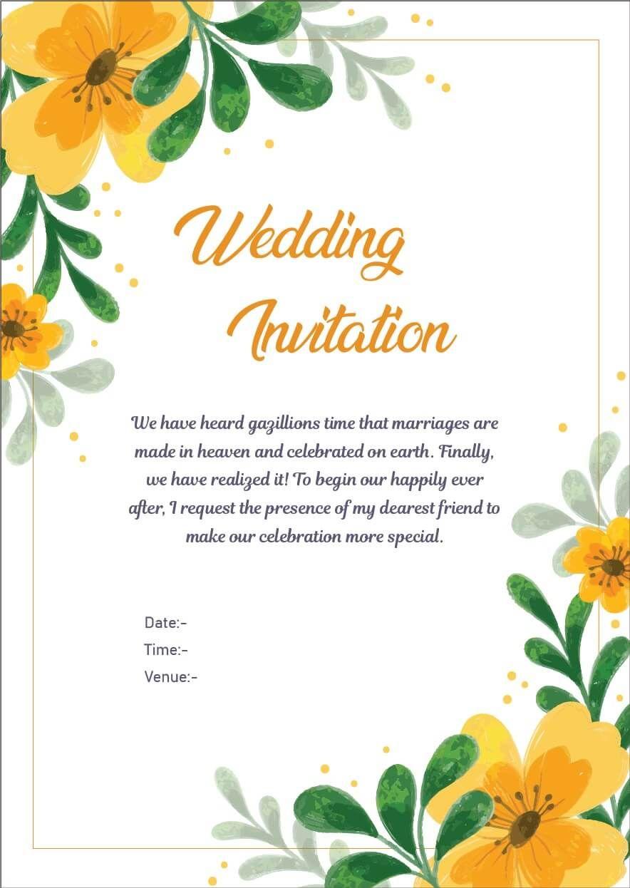 Wedding Invitation Wordings For Friends