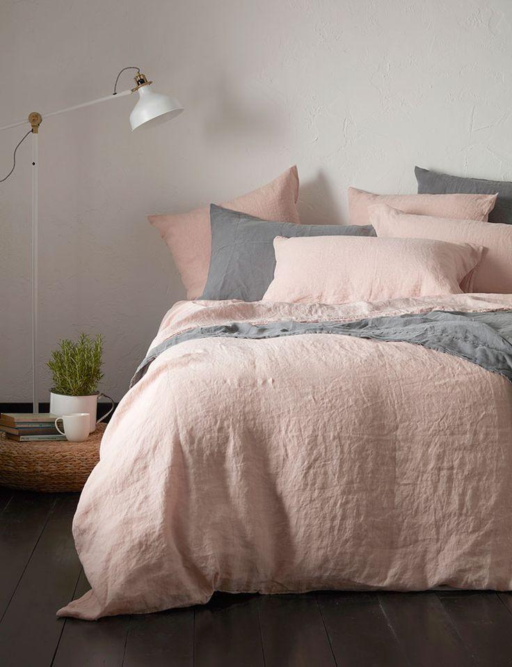 Best Blush Pink 100 Linen Bedding Pink Bedrooms Pink 400 x 300