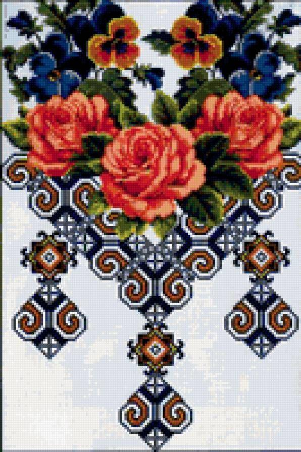 Вышивка крестом вышиванка бесплатные схемы