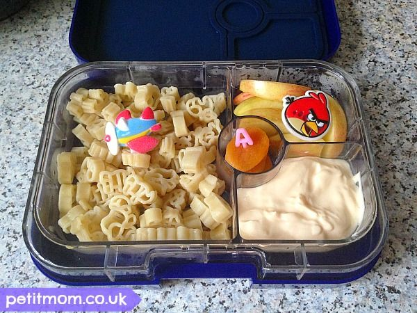 Alphabet Lunches - Letter A (Petit Mom)