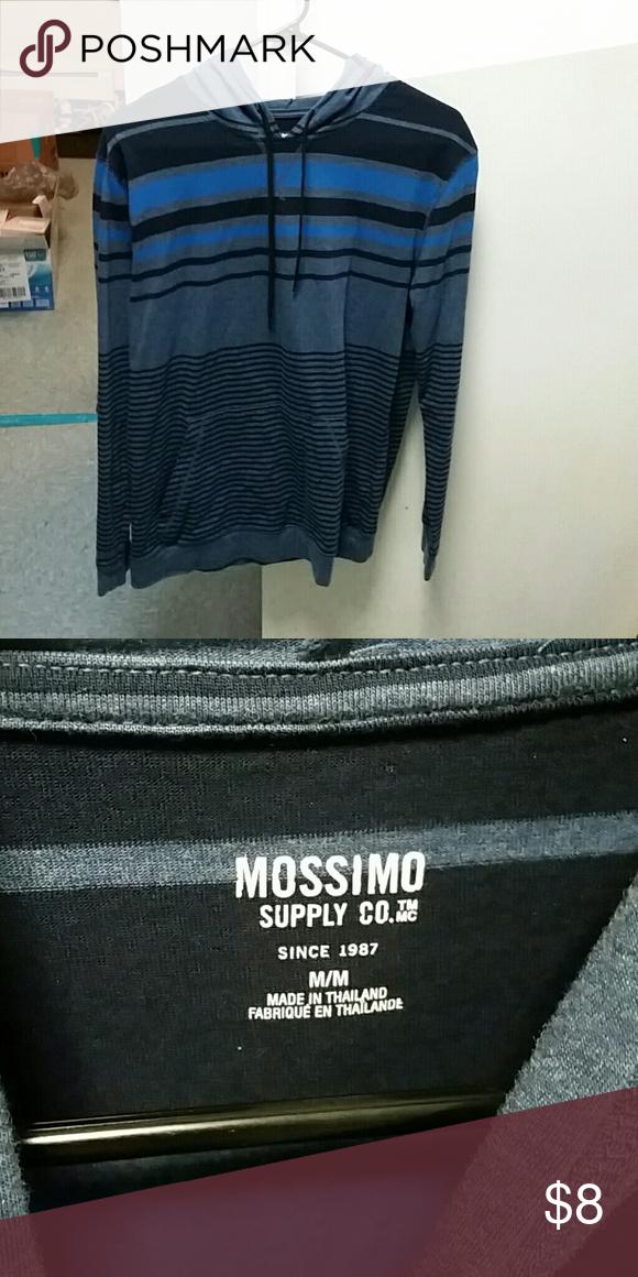 MOSSIMO BLUEGRAY HOODIE, SIZE MEDIUM