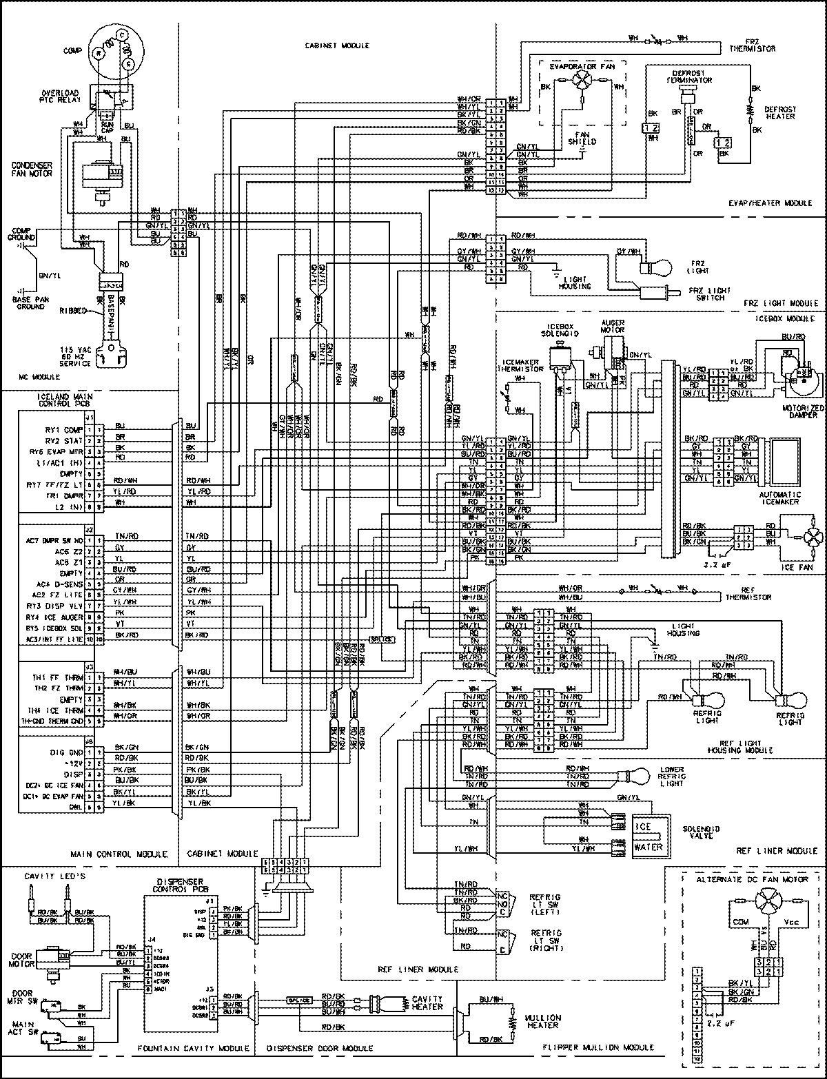 Refrigerator Parts Schematic