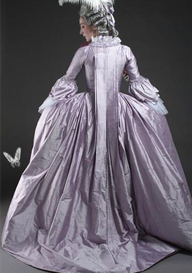 18th century lavendar silk