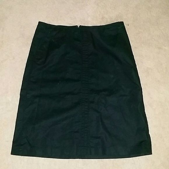 Black Skirt Black Dress Skirt.. Great Condition Stretchy 98% cotton, 2% Spandex Banana Republic Skirts