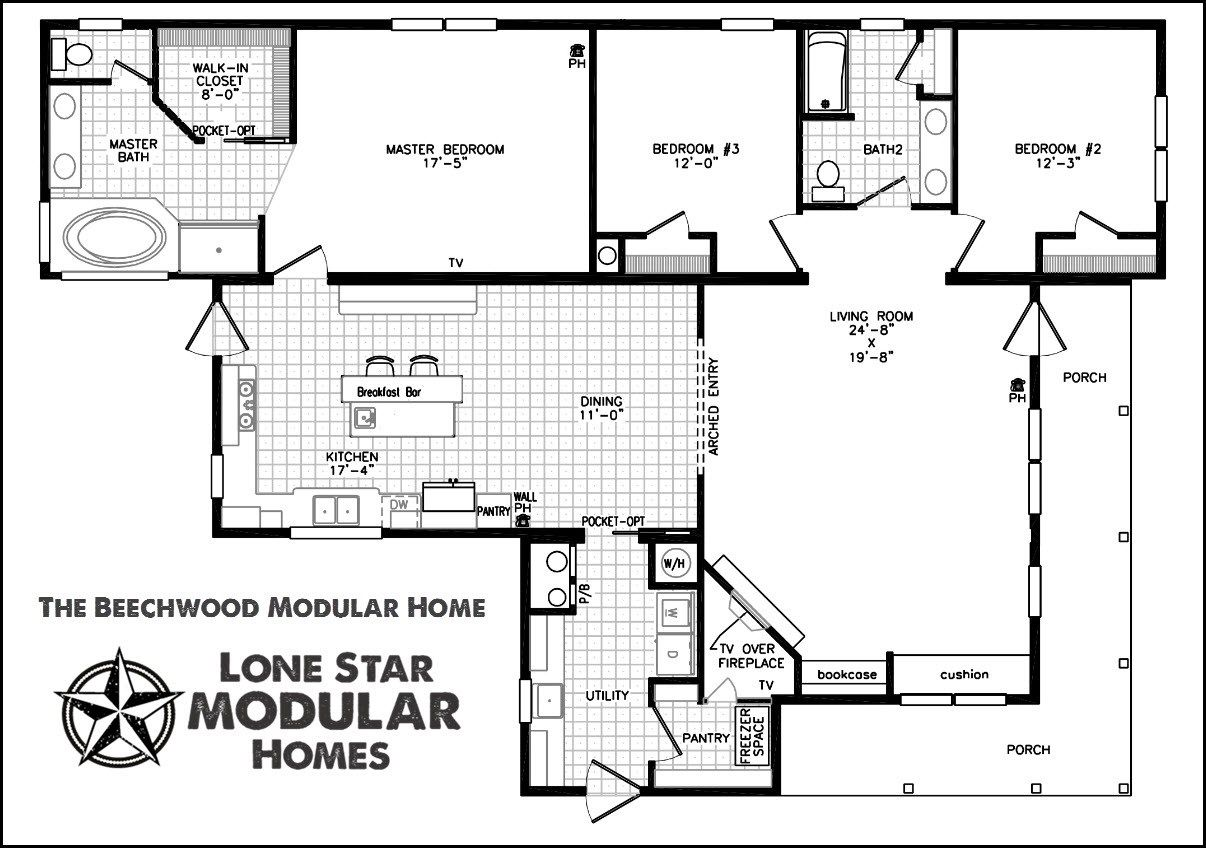 Ranch style modular home floor plans modern home plans for One level modular homes