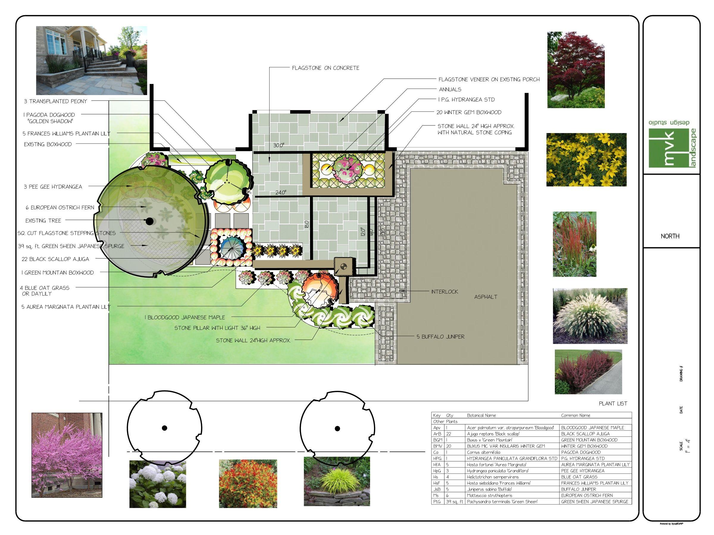 Front Yard Plan Landscape Design Program Landscape Design