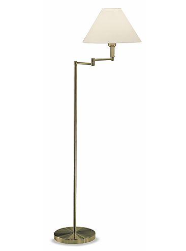Sl662 Swing Arm Floor Lamp Polished Brass With A Cream Shade Lighting Bug Swindon Swing Arm Floor Lamp Lamp Standard Lamps