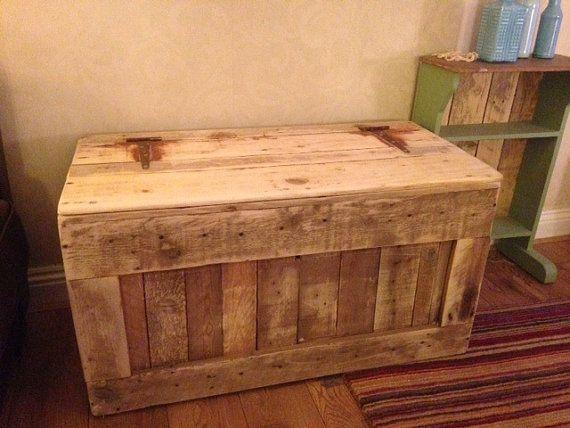 Chest Trunk Blanket Box Storage Box, Ottoman Reclaimed Pallet Wood Shabby  Chic - Chest Trunk Blanket Box Storage Box, Ottoman Reclaimed Pallet Wood